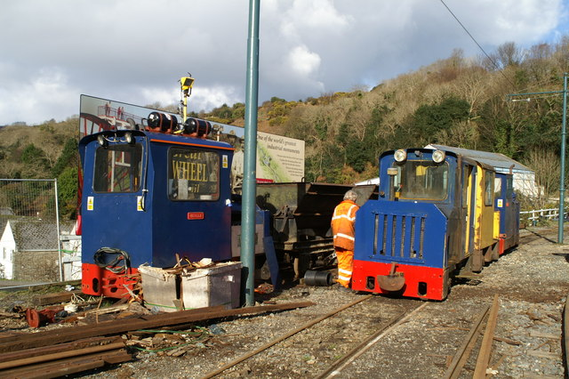 Track works on the Electric Tramway at Laxey