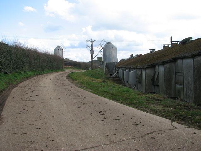 Private farm road