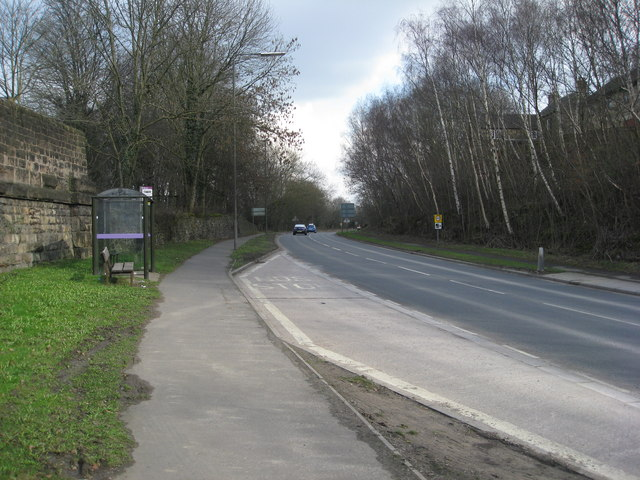 Bus Stop on the A610 at Bull Bridge