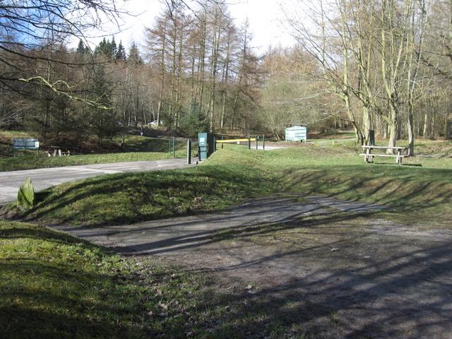 Forestry car park below Moel Famau