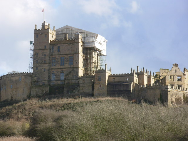 Bolsover Castle during conservation work, March 2009