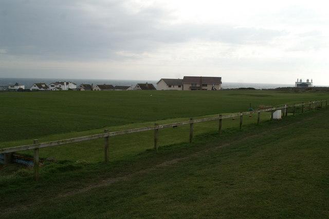 Golf practice range behind Port St Mary