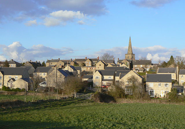 Crich - the upper village and the church