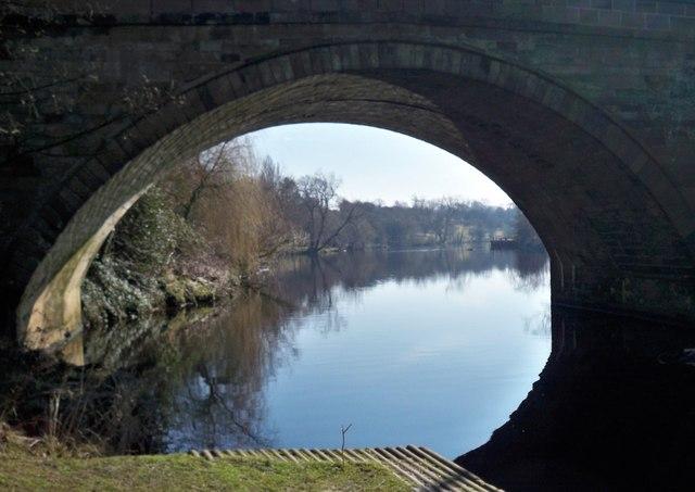 River Tees through Yarm Bridge