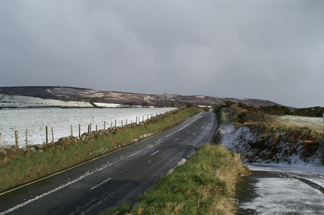 Looking up the Mountain Road on the TT course towards Creg-ny-Baa