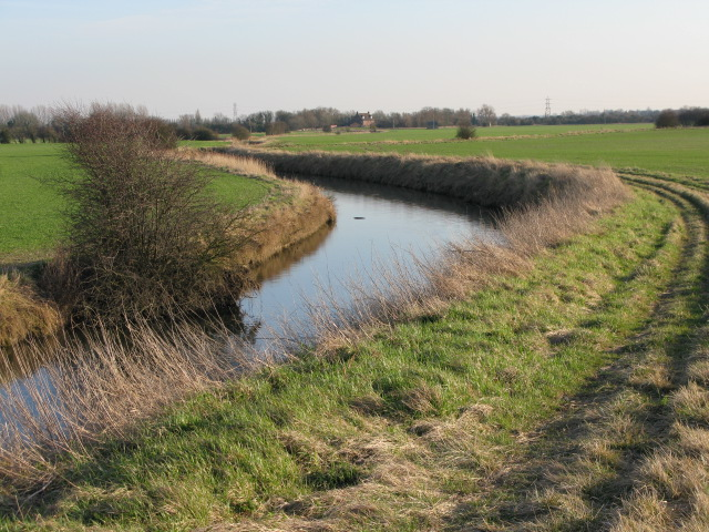 Looking SE along the River  Wantsum on Chislet Marshes