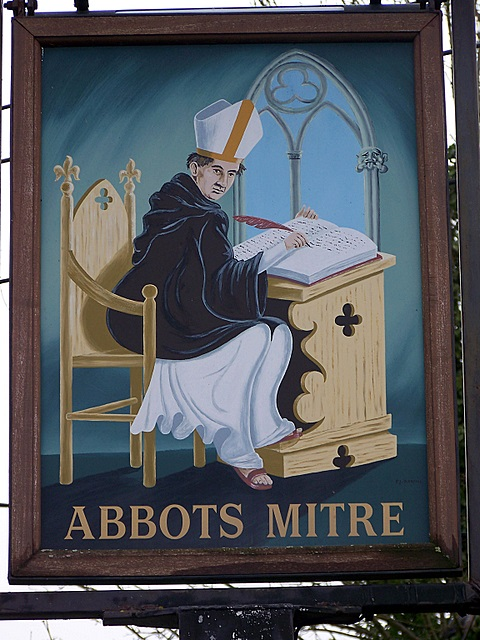 Sign for the Abbots Mitre