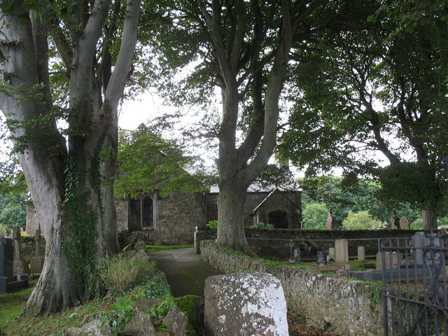 The driveway leading to St Gallgo Church, Llanallgo