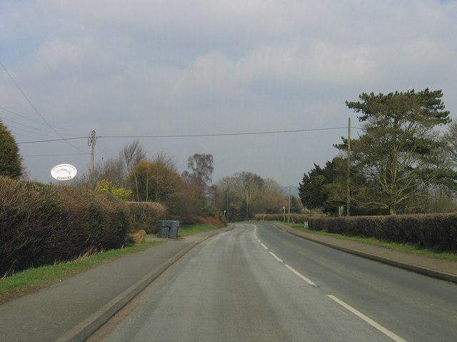 Romsley, B4551 Looking Towards Halesowen