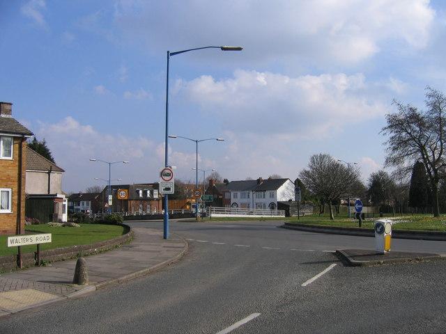 Quinton, Walters Road Junction with A456 Hagley Road Island