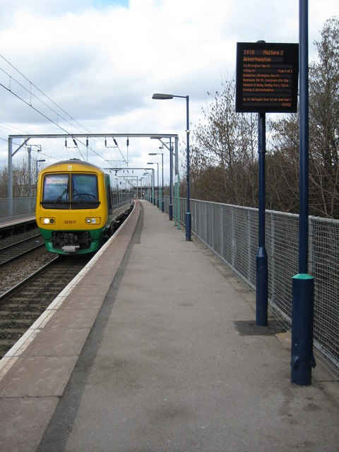 Train approaching Aston Station