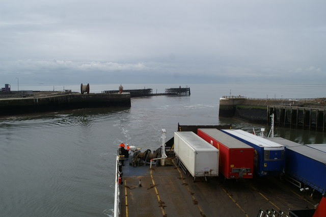 Heysham Harbour entrance