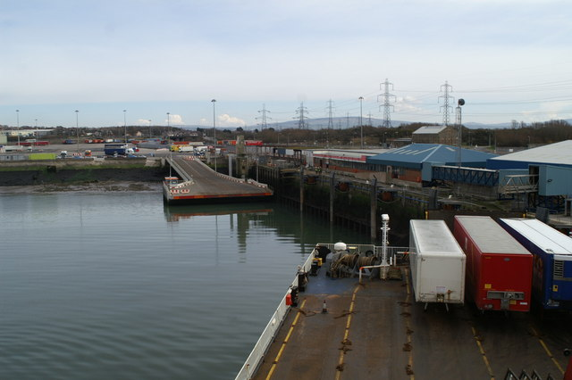 Floating roadway, Heysham Harbour