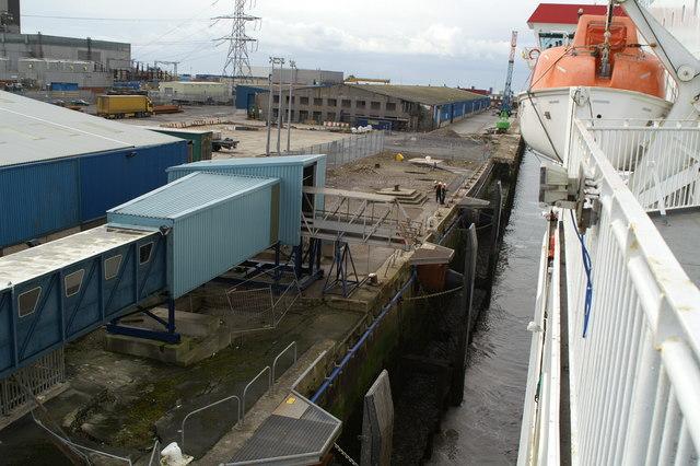 Heysham Harbour, forward shore crew