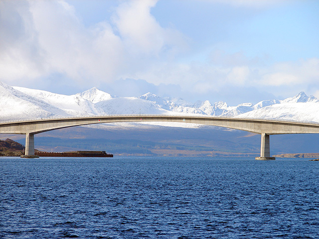 The central span of the Skye Bridge