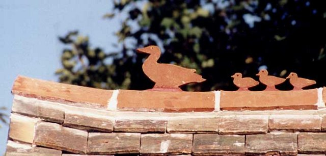 Ducks on the lychgate