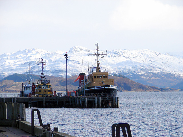 Vessels moored at a pier at Kyle
