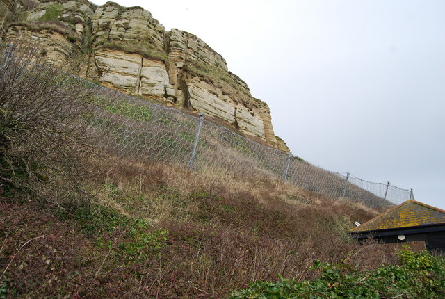 Rock capture nets, East Hill above Rock-A-Nore Rd