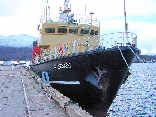 SD Tornado moored at Kyle of Lochalsh