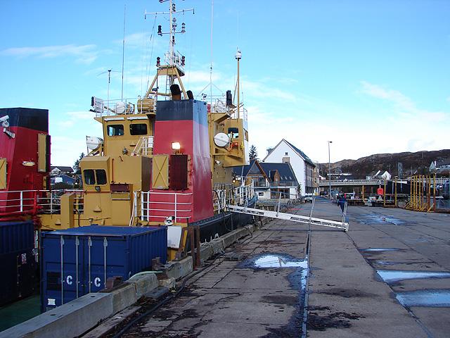 SD Tornado moored at Kyle of Lochalsh