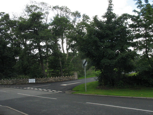 Entrance to the Home Farm Caravan Site, Parciau