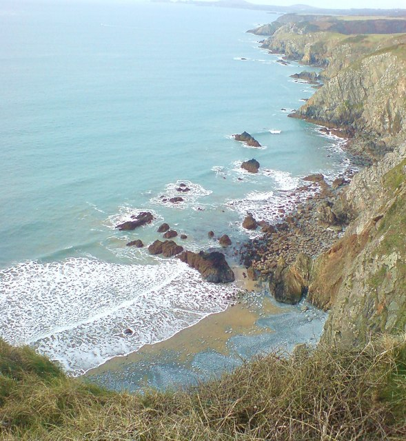 Sheer drop to Aber-west
