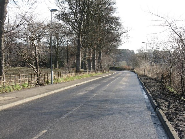 Station Road, Dalmeny, looking east towards Bankhead