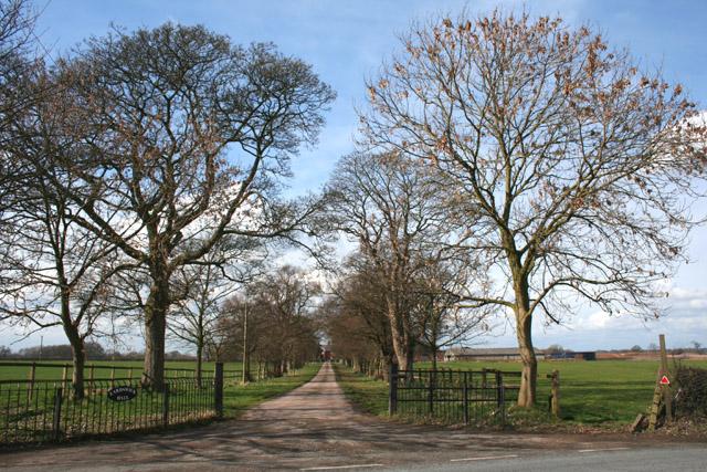 Track to Eardswick Hall, Minshull Vernon