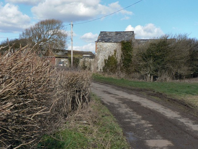 Farmyard and barn on Frampton Lane near Llantwit Major.
