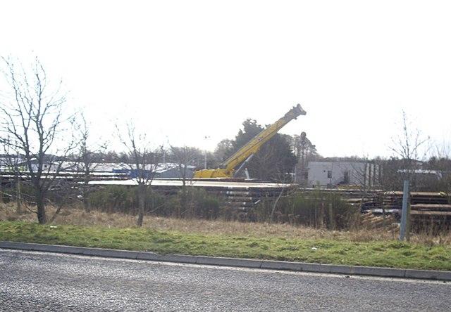 Pipe storage yard, Dyce