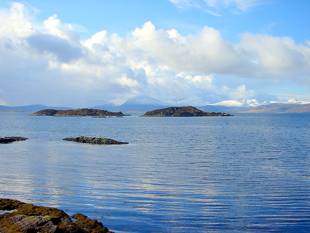 The Black Islands viewed from Erbusaig