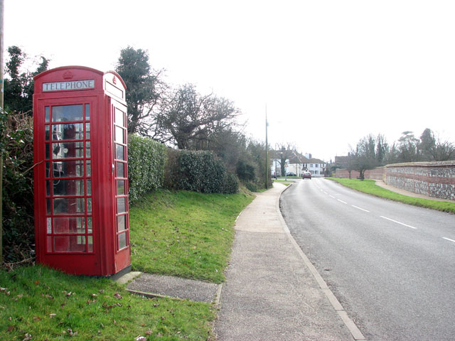 Old red telephone box