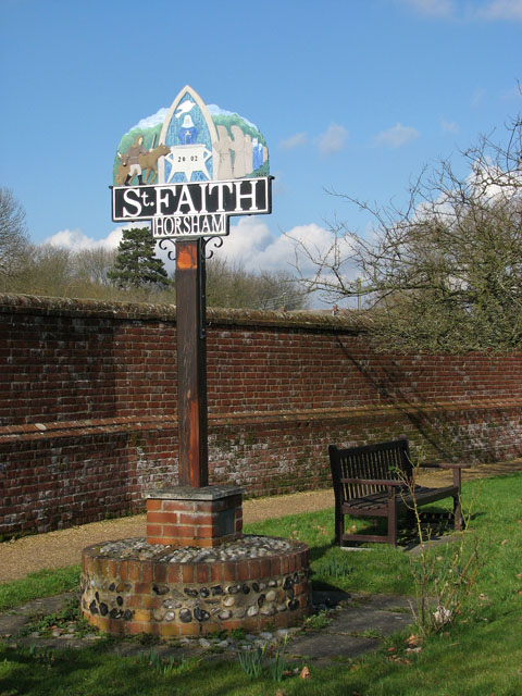 Horsham St Faith - village sign