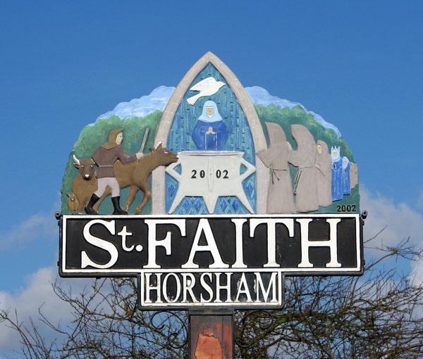 Horsham St Faith - village sign detail