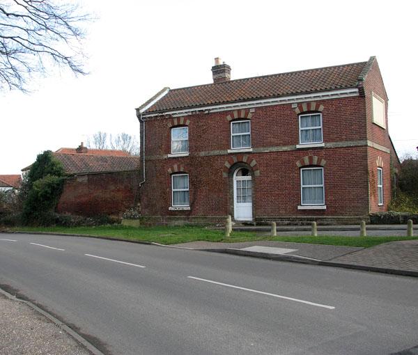 A fine red-brick house