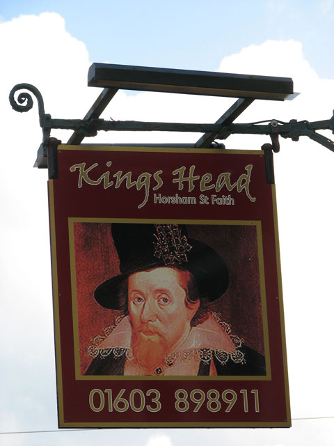 The Kings Head - pub sign
