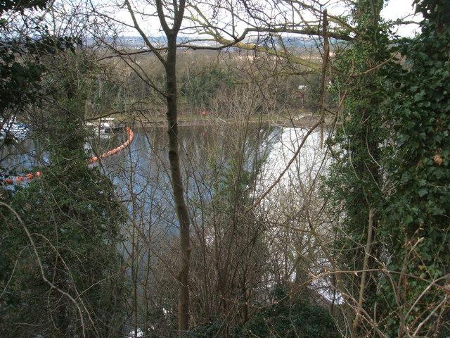 Stoke weir, River Trent