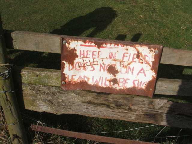 Cautionary notice by stile, near River Trent