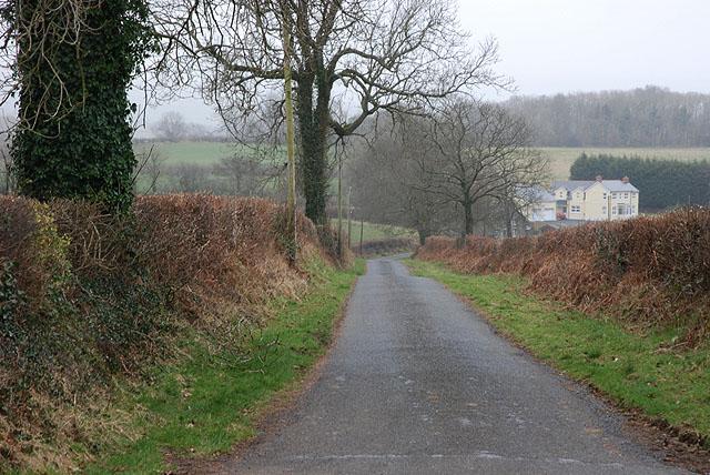 Minor road heading for Rhuddlan