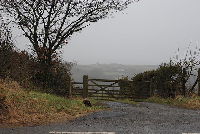 Lane heading for Pant-meddyg farm
