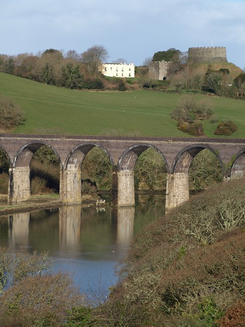 Viaduct and castle
