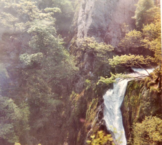 Waterfall above Llanberis