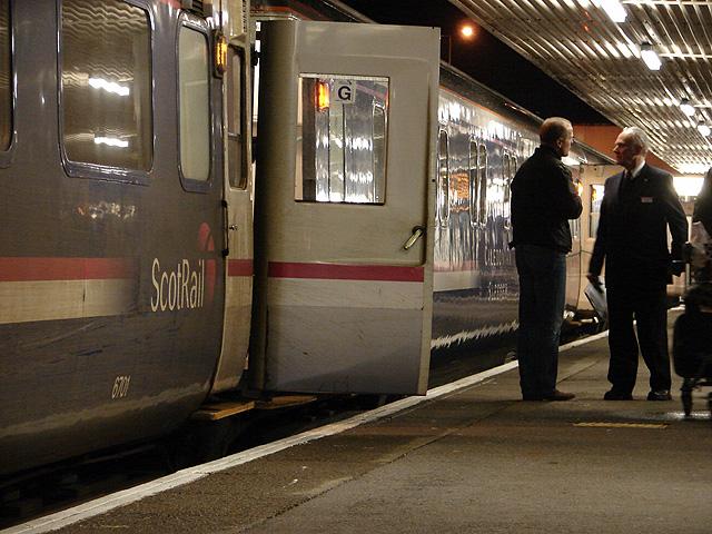 Boarding the night train