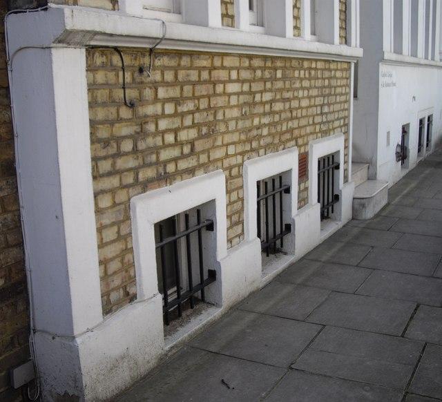 Below Stairs Windows in Oakfield Street