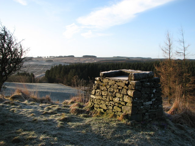 View point information pedestal on Selkirk Hill