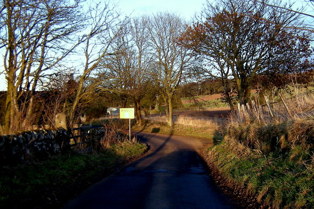 Approaching Angus from the southwest on the Kinpurnie Road