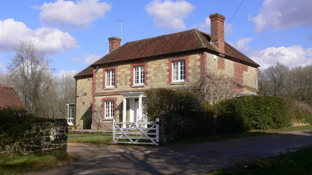 """""""Old Farm"""" on public footpath near Kingsham Wood"""