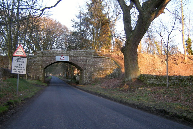 Railway Bridge on the Kettins / Newtyle Road, approaching  Newtyle