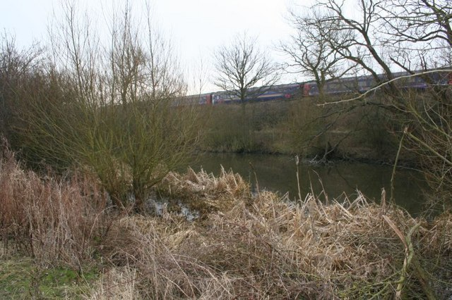 Pond by the railway