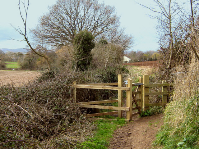 Footpath through the Meads, Bridgwater